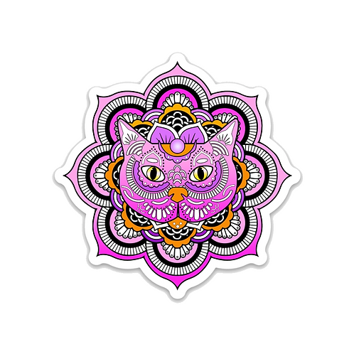 Cat Mandala Sticker