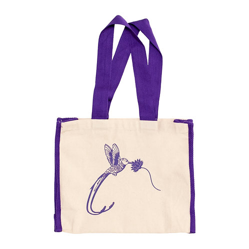 Hummingbird & Flower Tote Bag