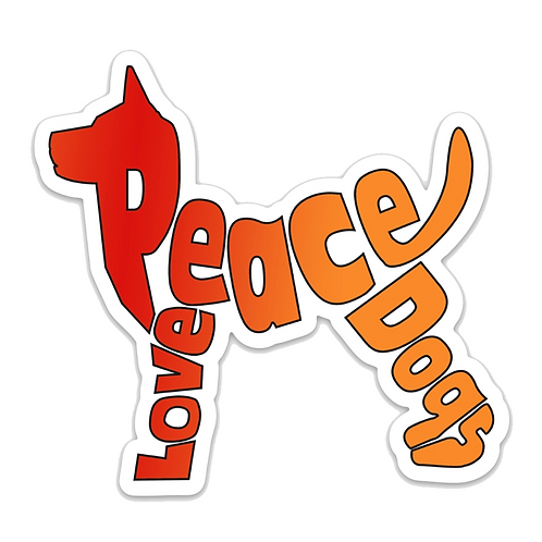 Peace Love Dogs Sticker