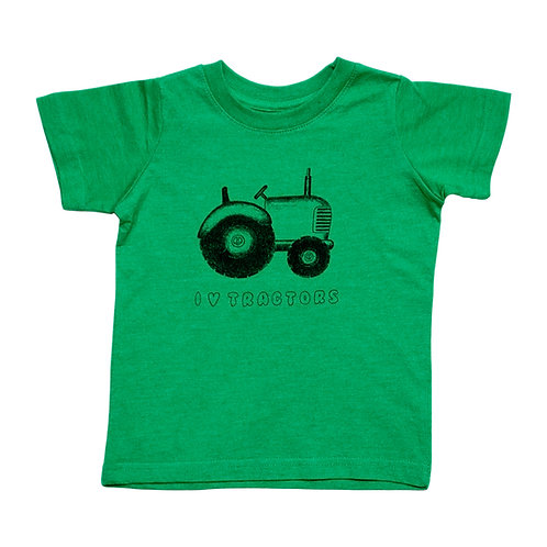 I Love Tractors Toddler Green Tee - Wholesale