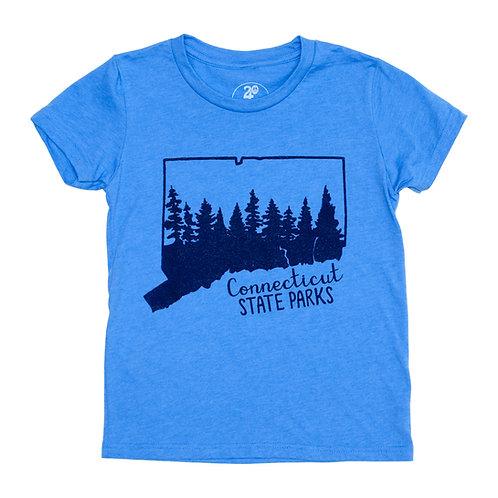 Kid's Connecticut Parks Tee - Blue
