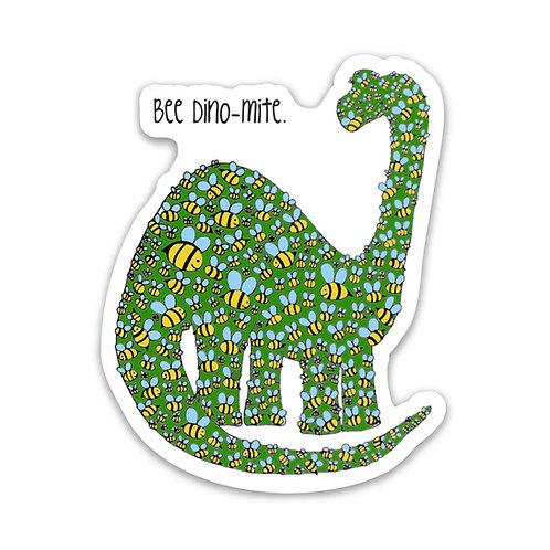 Bee Dino-Mite Sticker