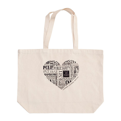 Essential Workers Heart Tote Bag - Large