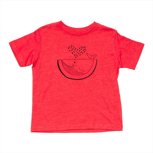 Toddler Watermelon Whale Tee - Wholesale