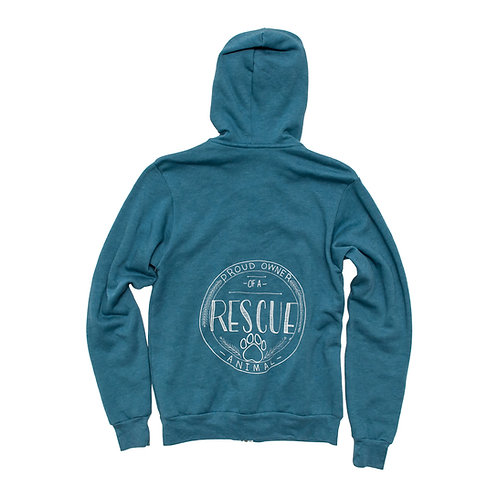 Unisex Rescue Owner Fleece Zip Hoodie