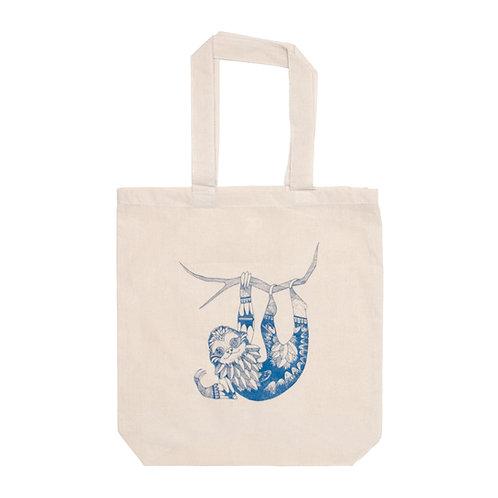 Sloth Tote Bag - Indigo
