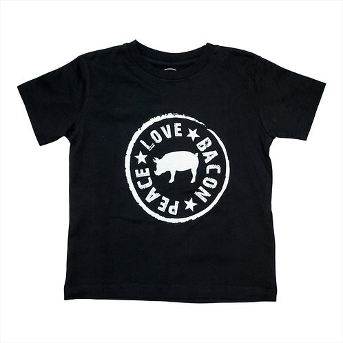 Kid's Peace Love Bacon Tee