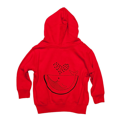 Toddler Watermelon Whale Zip-up Sweatshirt - Wholesale