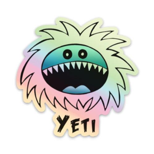Yeti Hologram Sticker