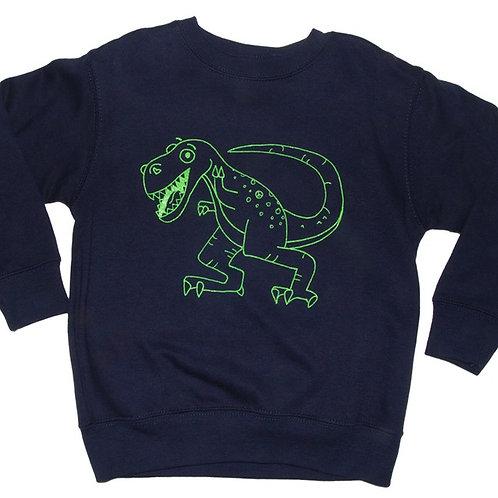 Kid's Green Dinosaur Sweatshirt
