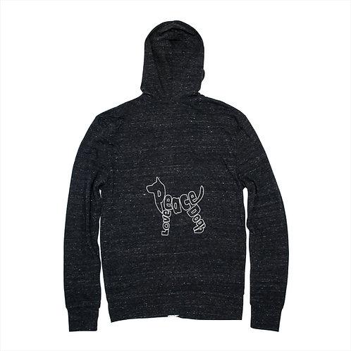 Unisex Peace Love Dogs Zip Hoodie