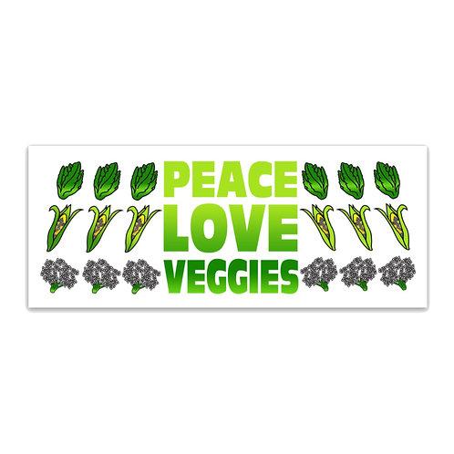 Peace Love Veggies Sticker