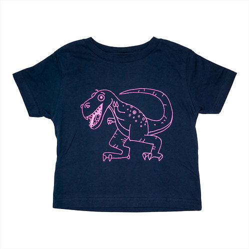 Toddler Pink Dinosaur Tee - Wholesale