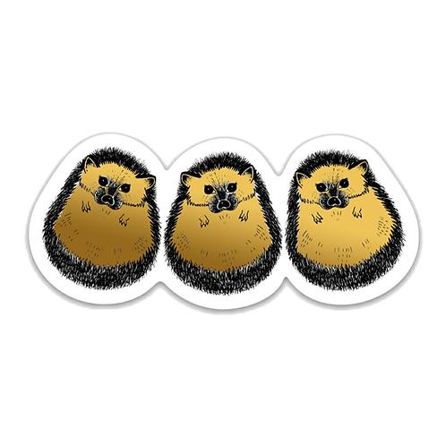 Hedgehogs Sticker