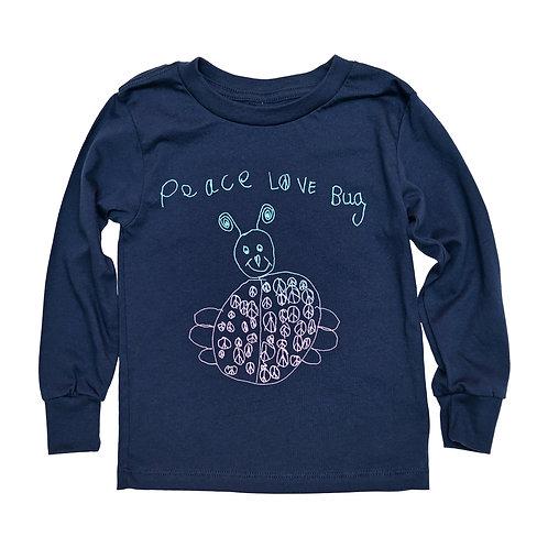 Toddler Peace Love Bug Long Sleeve Tee