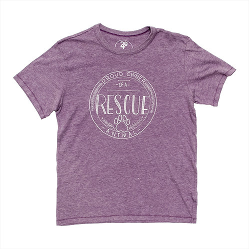 Unisex Rescue Owner Tee Purple