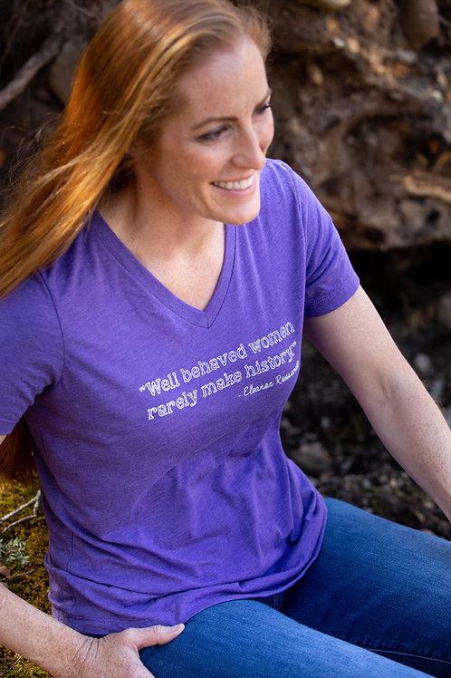 Women's Well Behaved Purple Tee