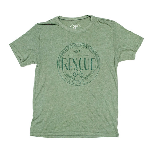 Unisex Rescue Owner Tee Green - Wholesale