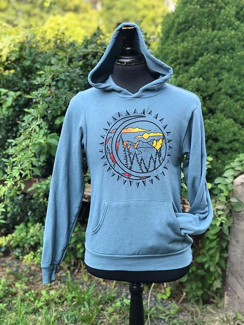 Unisex Mountain Rays Fleece Hoodie