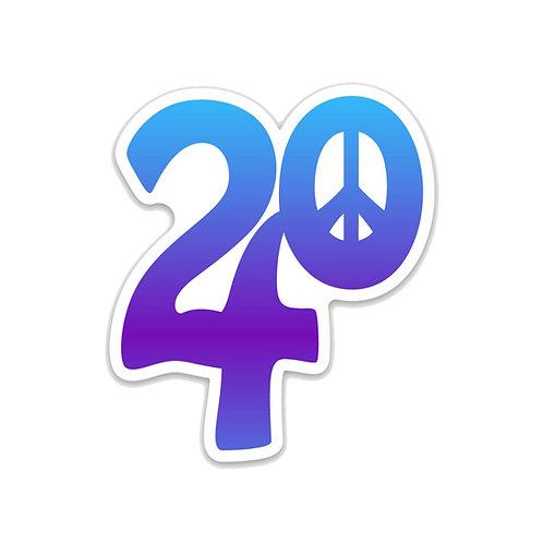 24 Peace Logo Magnet