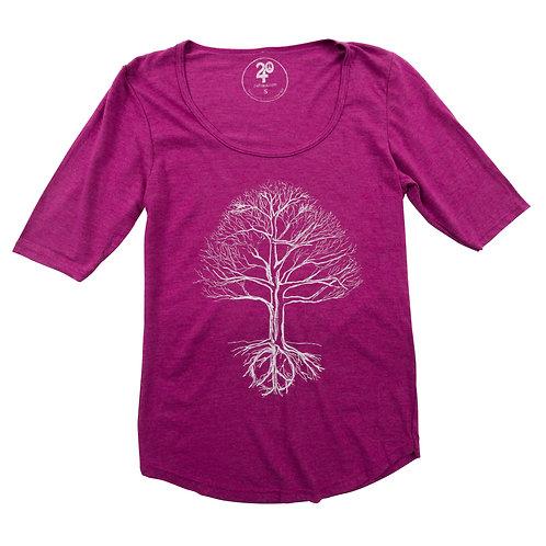 Women's Peace Tree 1/2 Sleeve Tee