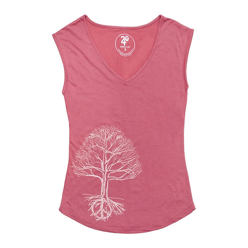 Women's Peace Tree Sleeveless Tee - Wholesale