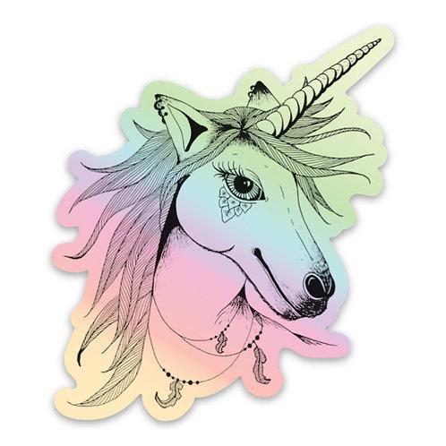 Unicorn Hologram Sticker