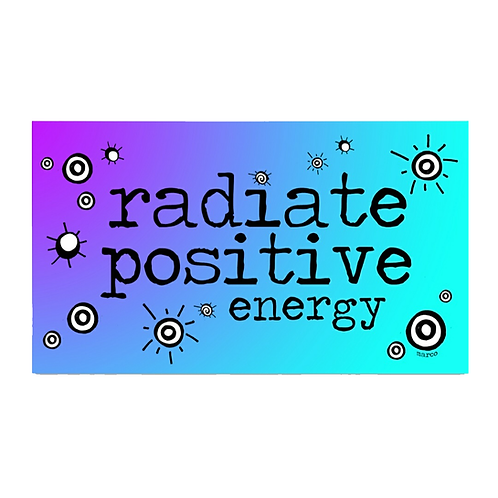 Radiate Positive Energy Sticker