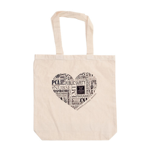 Essential Workers Heart Tote Bag - Small