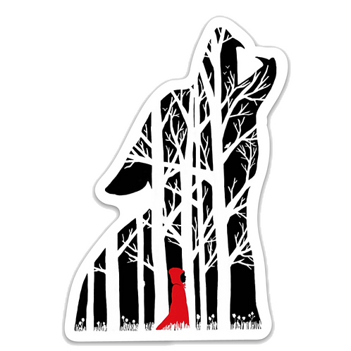Red Riding Hood Wolf Sticker