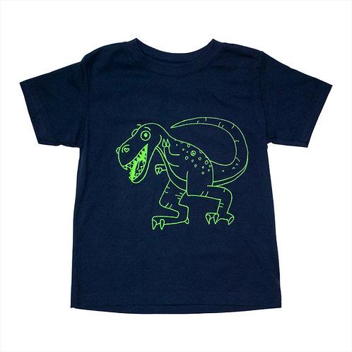 Toddler Green Dinosaur Tee