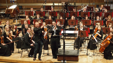 Maciej Zieliński, Christopher Słowiński and Sinfonia Iuventus