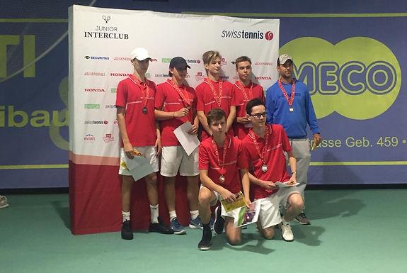 Die U18-Junioren des TC Aarau sind Vize-Schweizer-Meister 2018