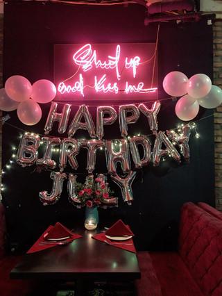 Trang trí sinh nhật theo yêu cầu