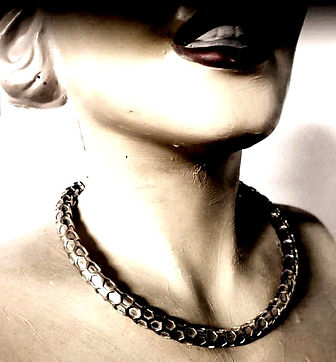 corrugated collar torque necklace collier godrons