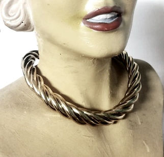FASHION  GOLD  SILVER NECKLACE