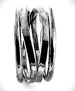 corrugated bangles cuffs bracelet ondules godrons earrings boucles d'oreilles