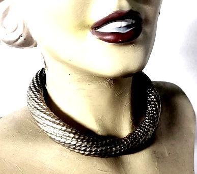 silver collar necklace torque