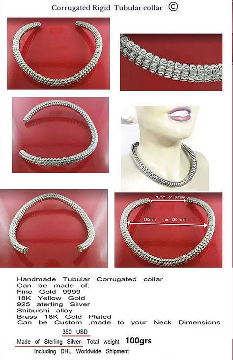 silver corrugated jewelry