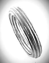 fashion jewelry corrugated bangle