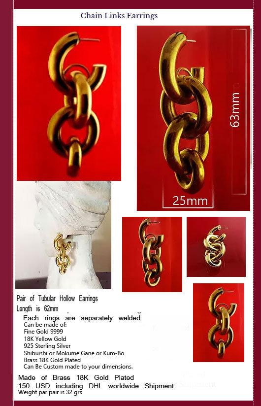 corrugated jewelry in gold