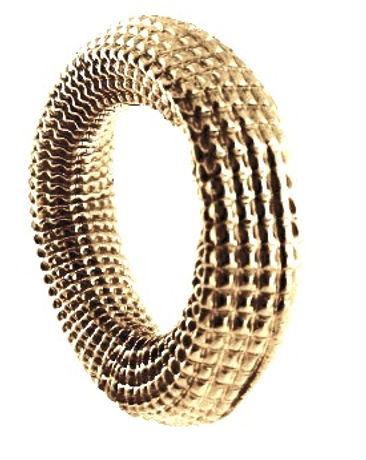 18K gold corrugated bangle jewelry