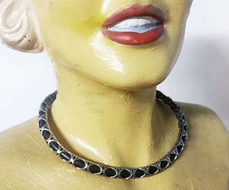 openwork collar leather strap 3