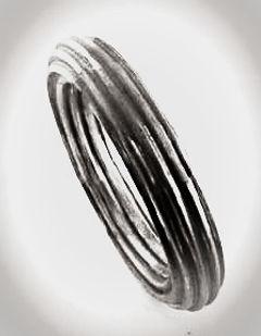 corrugated jewelry bangle 1