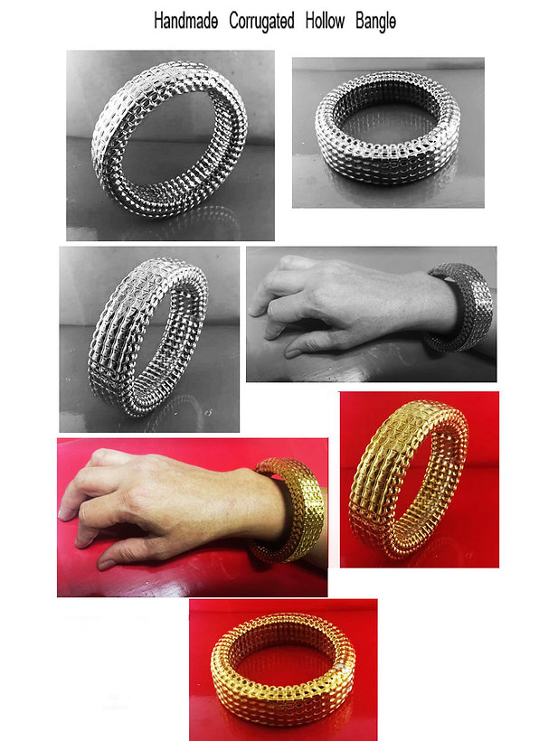 corrugated jewelry 18k Gold or in Sterling Silver