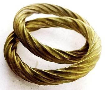 twin corrugated bangles