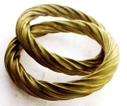 corrugated jewelry bangles