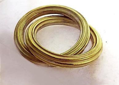 bracelet godrons twin corrugated bangles