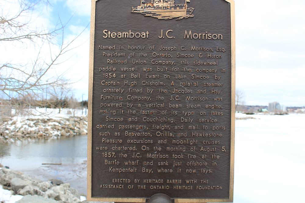 Barrie Ontario Steamboat Plaque
