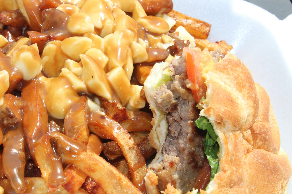 poutine and burger